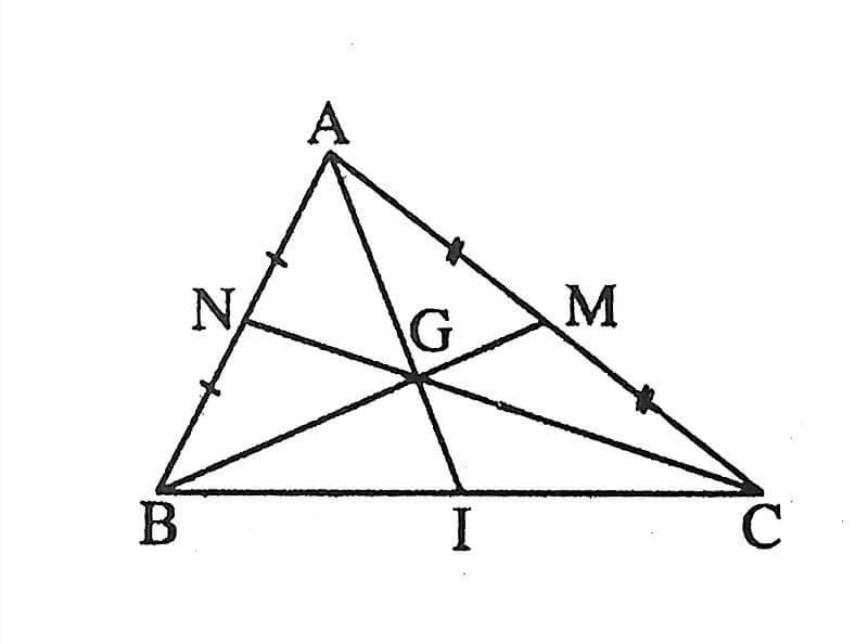 Lý thuyết và bài tập tính chất đường trung tuyến trong tam giác