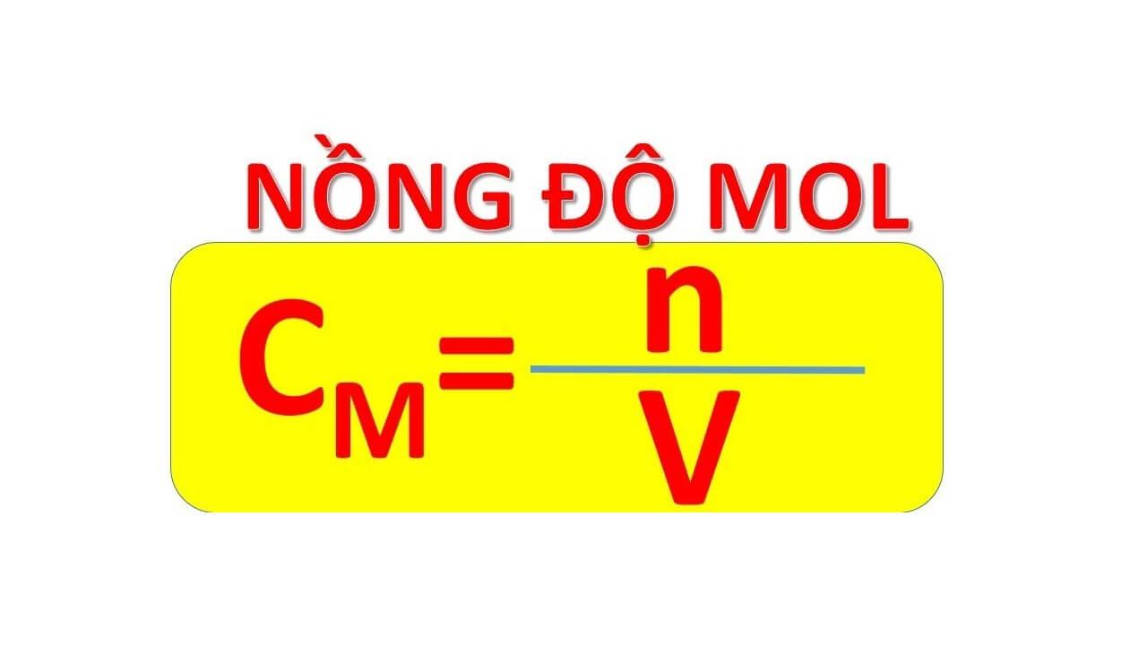 Công thức tính nồng độ mol – nồng độ phần trăm của dụng dịch