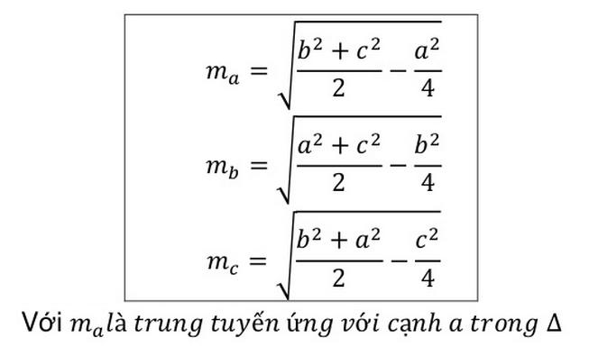 Đường trung tuyến: Lý thuyết, tính chất, công thức tính trong tam giác